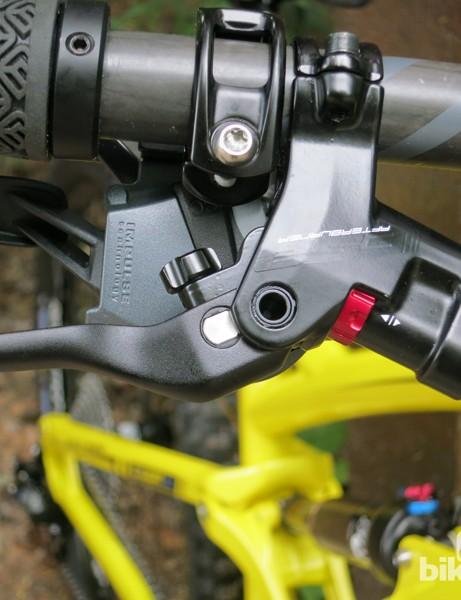 The FSA Afterburner brake uses an alloy brake lever