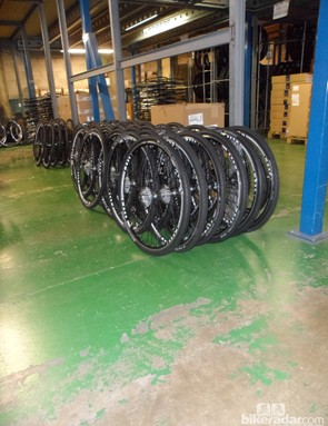 Cyclocross season is coming, so Lapierre are busy building CX wheelsets
