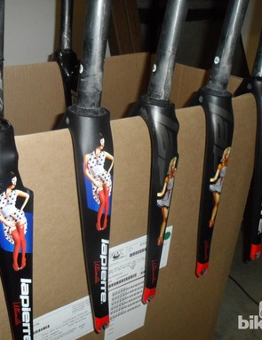 A selection of French 'fancies' on Lapierre's Ultimate custom forks