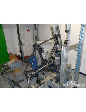 Kit in the Lapierre test lab