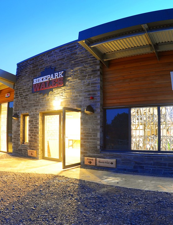 The visitor centre at BikePark Wales
