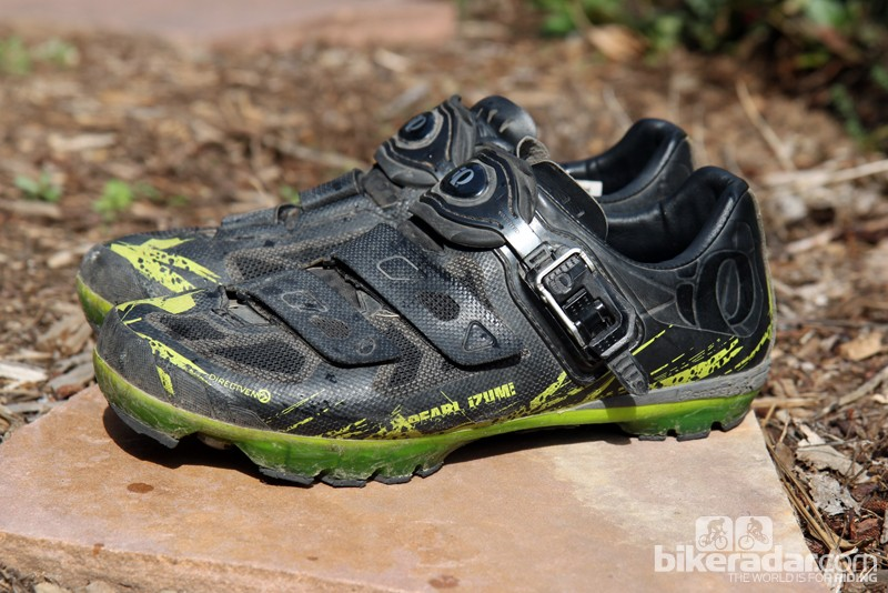 Pearl Izumi's new X Project 1.0 mountain bike shoes blend very good pedaling stiffness with remarkably good walkability