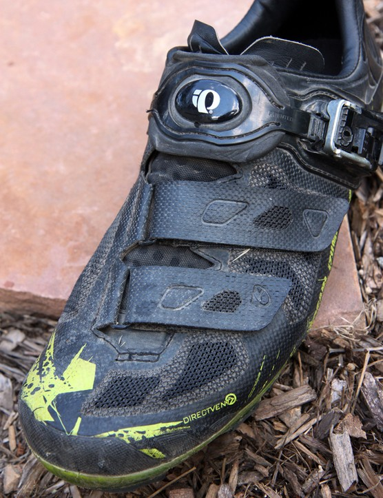 The airy mesh uppers of the Pearl Izumi X Project 1.0 shoes offer extremely good ventilation