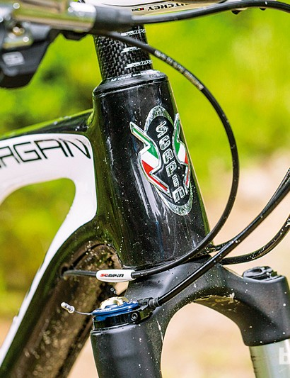 Italian colours in the Scapin Morgan S1 XTR headbadge show off its Euro heritage