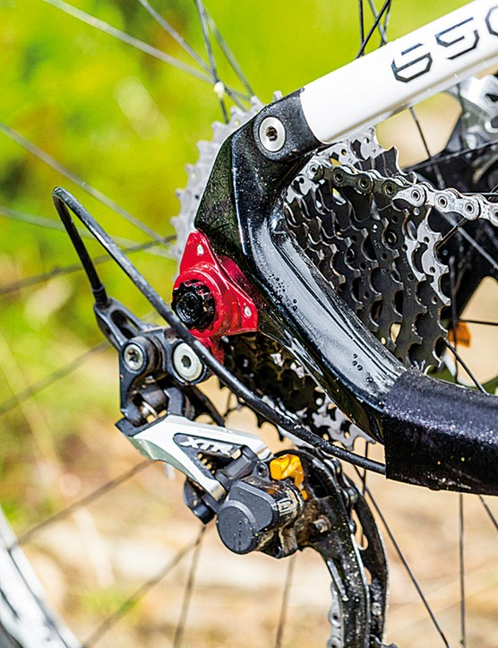Gear hangers and dropouts are replaceable on the Scapin Morgan S1 XTR