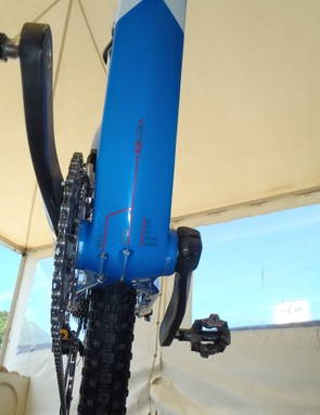 A press-fit bottom bracket and internal cable routing on the Orbea Alma