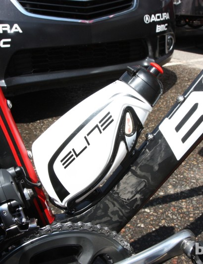 Elite's aero bottle requires a dedicated cage