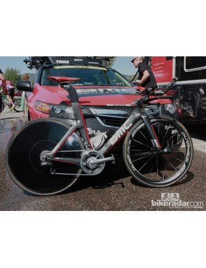 Race leader Tejay van Garderen raced the uphill stage 5 time trial at the USA Pro Challenge on his BMC TM01 timemachine