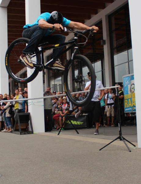 In addition to the opening Demo Day, where bike industry insiders can test bikes, Eurobike offers pro demos throughtout the show