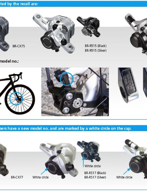 Check Shimano's notice if you think you might have a set of recalled disc brakes