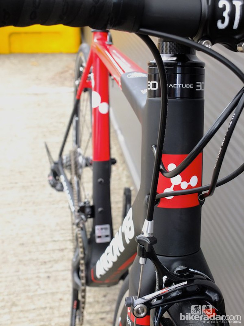 The 3D head tube of the new Argon 18 Gallium Pro means you can adjust bar height without compromising front end stiffness