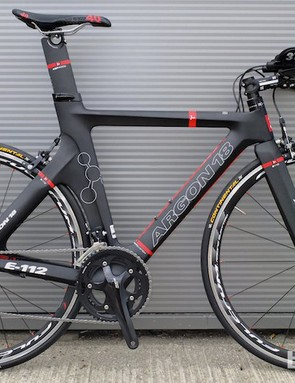 The new complete Argon E-112 triathlon/time trial bike