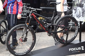 The new Focus SAM (Super All Mountain), a 650b, 160mm travel enduro bike