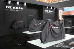 The De Rosa stand was immaculate and deserted when we visited