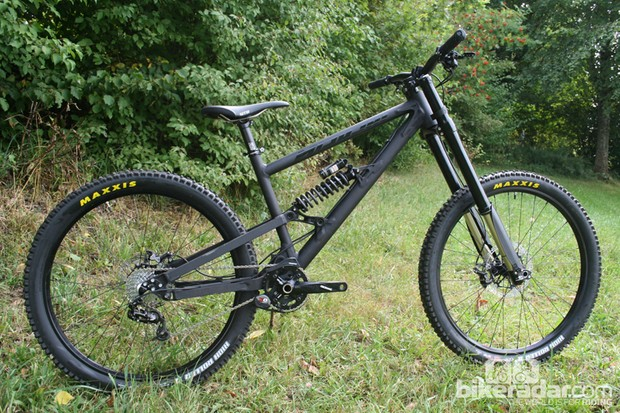 Nicolai show their faith in the 650b platform with a pure downhill bike, the Ion 20, taking the medium wheel size across for 2014