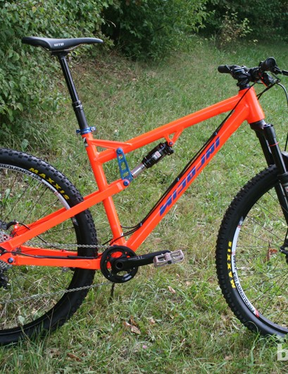 The Nicolai Helius TB is a new 120mm travel trail bike available in 29er (medium and large sizes) and 650b (small) formats. It replaces the 2013 model, which has 26in wheels