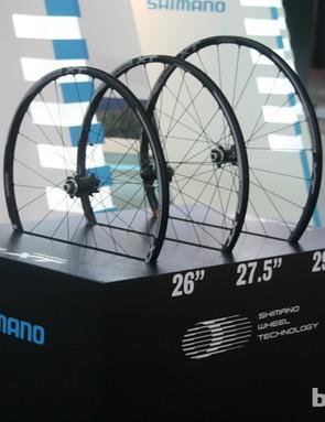 Shimano's wheel stand encapsulates the ongoing wheel size debate