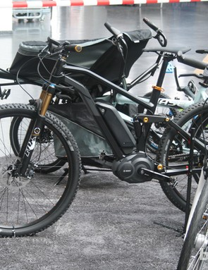 The Moustache full-suspension e-bike is in the frame for a Eurobike Award too