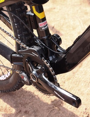 The top Pro models of both the Nukeproof Mega AM and TR ranges come with 1x10 drivetrains and chainguides