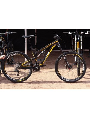 The Nukeproof Mega AM 275 now comes with 650b wheels but keeps the same 160mm of linkage driven, single pivot travel
