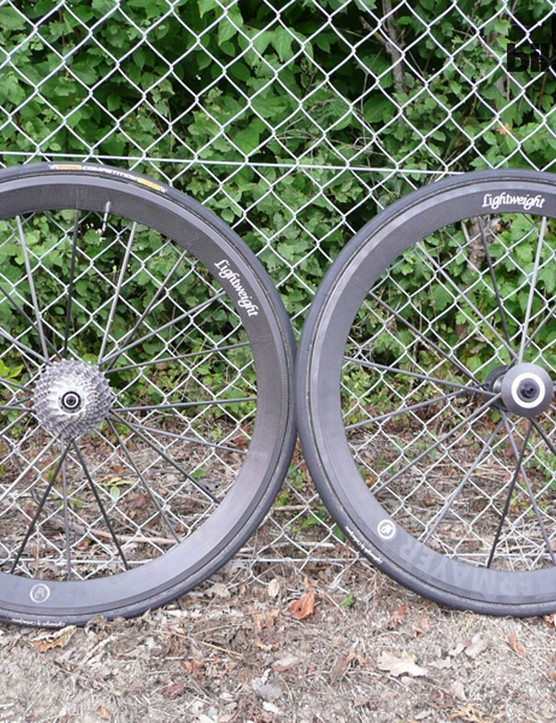 The flagship Lightweight Meilenstein Obermayer wheelset has been updated for 2014. Weight per pair is a gasp-inducing 940g