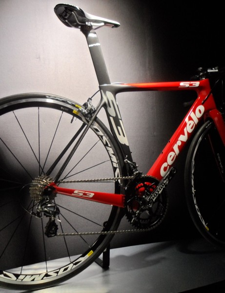 The Cervélo S3 loses weight for 2013, while making room for wider tires