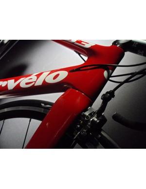 The Cervélo S3 retains the distinctive tube profiles of the S series areo bikes