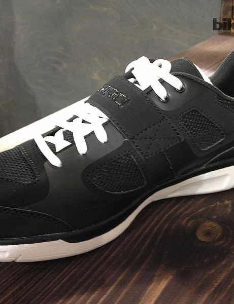 The Giro Grynd is an effort to bring some street cred to cycling shoes. It has SPD cleat fixtures underneath