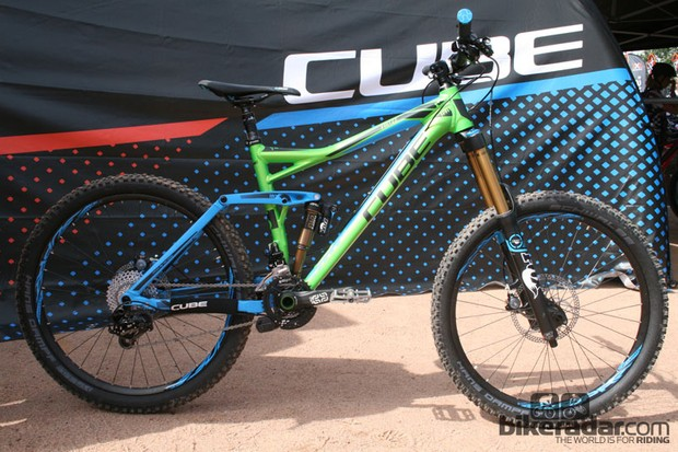 The new Cube Fritzz 180 stays faithful to 26in wheels. This spec retails for €3,999