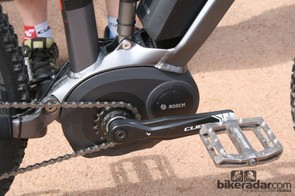 The Bosch 250 watt motor used in the new Cube e-bikes uses its own gearbox