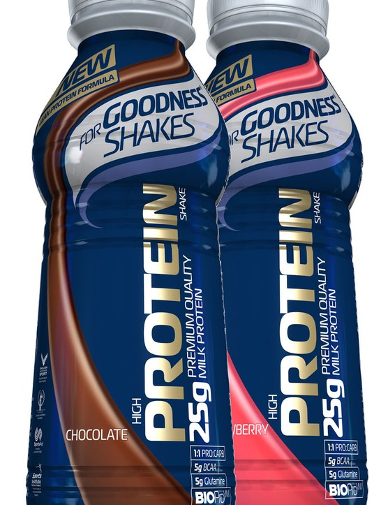 FGS Protein packs 25g of protein per 500g bottle