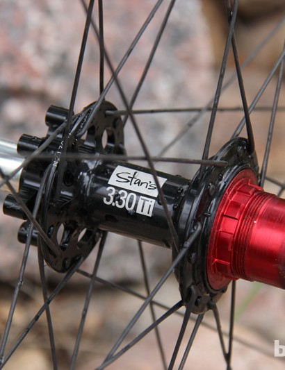 The Stan's NoTubes 3.30 rear hub is compatible with most common axle interfaces and also with SRAM's XD driver body (shown here)