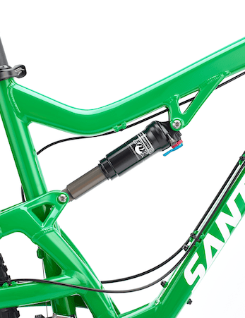 The Santa Cruz Bantam comes equipped with a Fox CTD Evolution rear shock