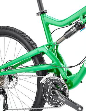 The Santa Cruz Bantam's single-pivot suspension is straightforward; rear suspension travel is 125mm
