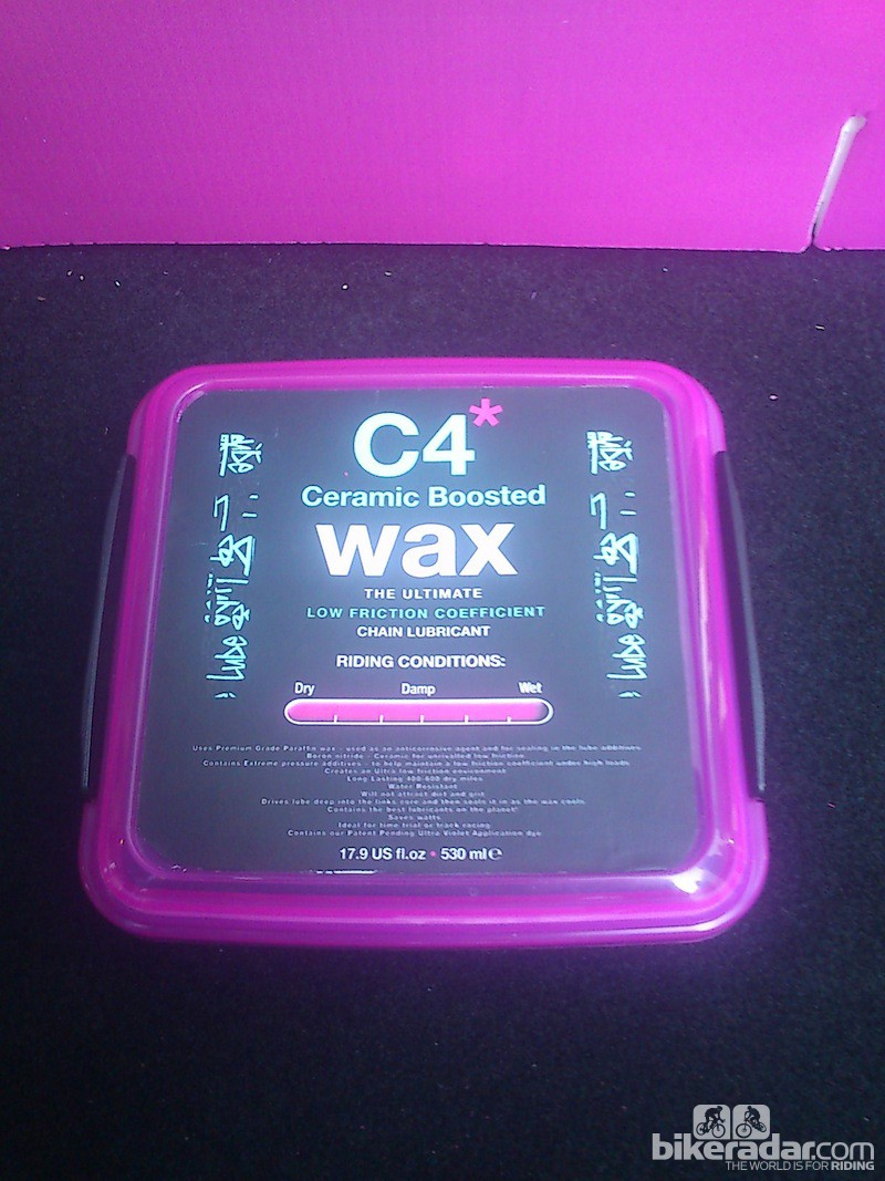 Packaging is ready for the prototype C4 wax, and the exact formula is due to be finalised, subject to testing