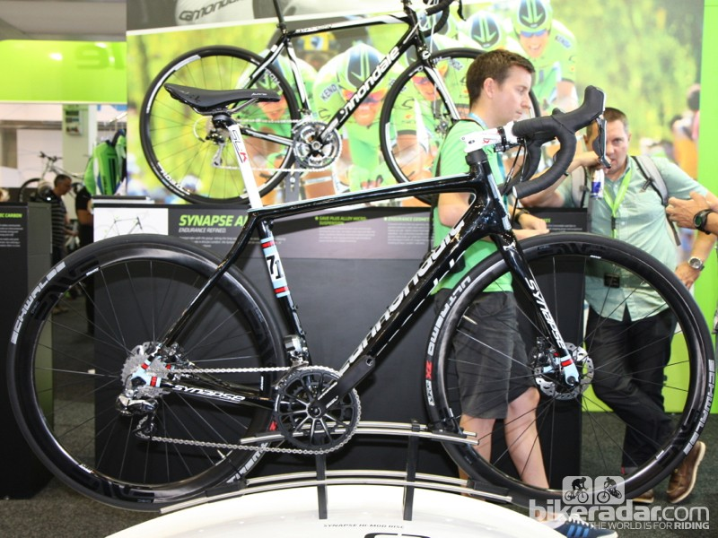 The 2014 Cannondale Synapse Hi-Mod Disc retails for US$9,750 (UK pricing TBC)