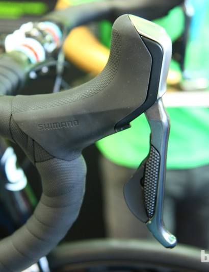 Shimano has one Di2 hydraulic lever, but no name for it. This 'non-series' hydro/electric lever works with both Dura-Ace and Ultegra Di2 drivetrains, along with 'non-series' hydraulic calipers