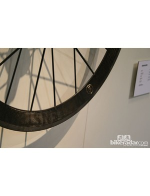 The laser-etched graphics on the Lightweight Meilenstein Obermayer wheels look amazing but also save weight over decals