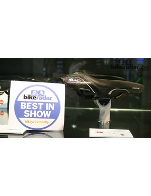 The Selle Italia Iron TT/tri saddle is fitted with a faring to manage the closure of airflow around the back of the rider