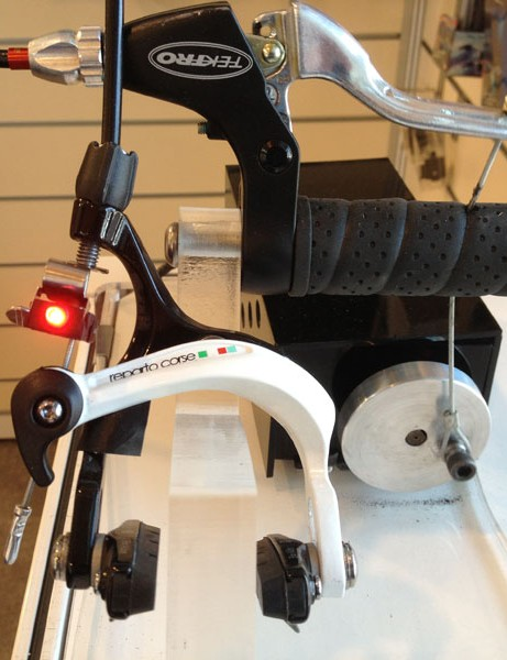 The Ilumenox rear light switches on when the brakes are applied