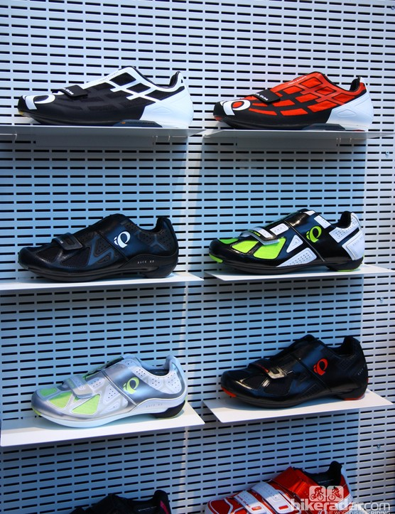 The Pearl Izumi Pro Leader sits atop the company's new line of road shoes