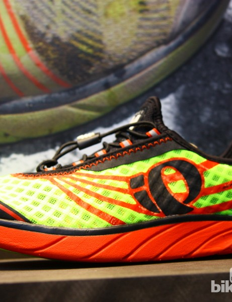 Seamless upper technology on the Pro Leader road shoe comes from Pearl Izumi's running footwear