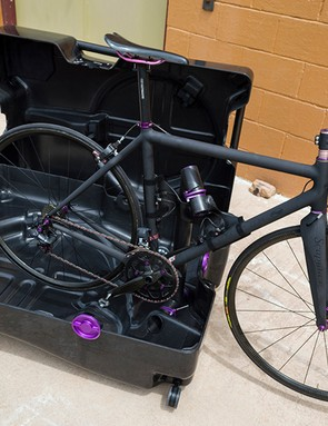 Very little work is required to pack the bike in the custom Fairwheel case, or reassemble it for a ride