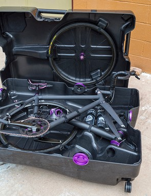 A place for everything in the Fairwheel custom travel case - even the water bottles