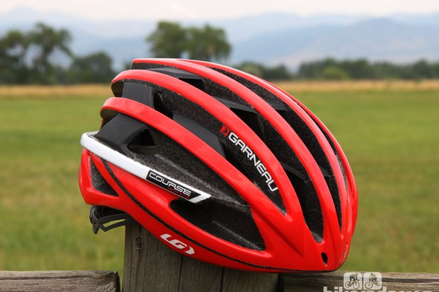 The Louis Garneau Course is an aerodynamic road helmet that also happens to be lightweight, airy, and comfortable