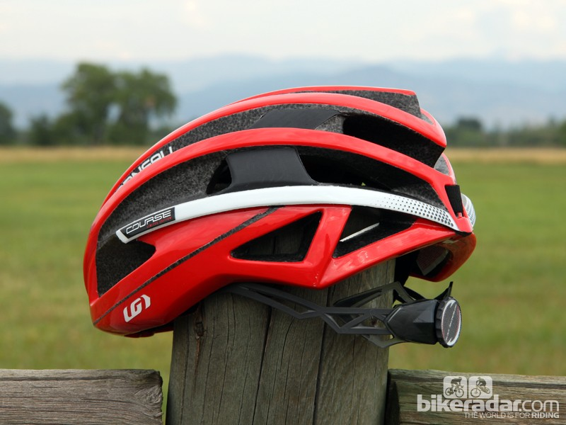 Get used to seeing clipped-off helmet tails like the one used on the Louis Garneau Course. According to more than one helmet company we spoke to, those long and stylish road tails also act as air brakes