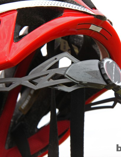 The Spiderlock Pro II retention system on the Louis Garneau Course helmet is easy to operate and virtually indestructible