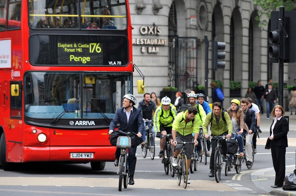 In parts of London, cycling is growing while other forms of travel decline