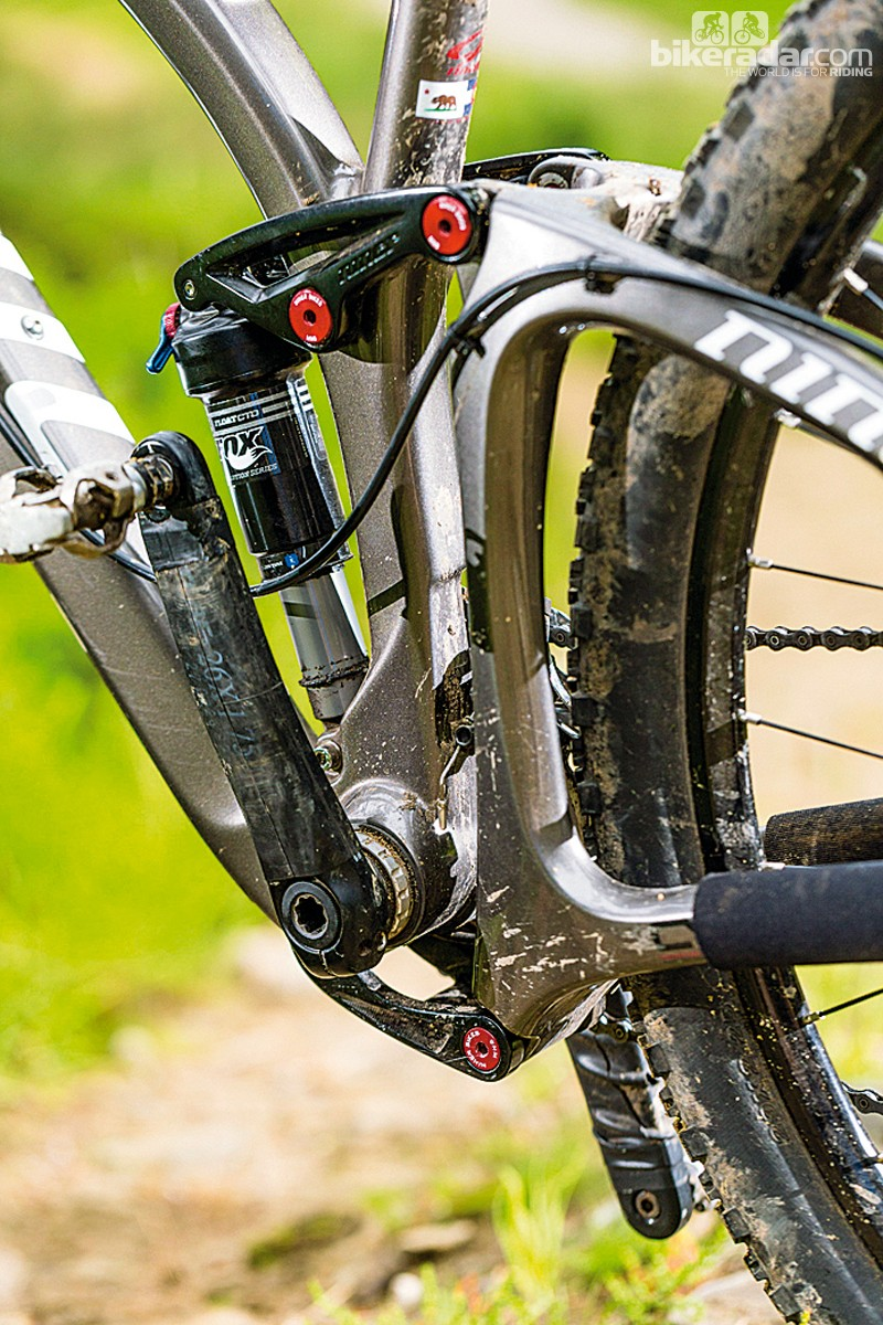 The tall bottom bracket can feel precarious when you're scuffing around on loose surfaces