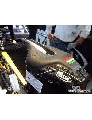 The carbon back section of the Selle Italia Iron saddle is designed to act like a spoiler and offer a real aero advantage